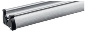 Schiene, profil, technik, alu, aluminium, gebürstet, schwarz, endkappe