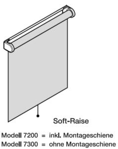 Comfort, Soft Raise, 7200, 7300, Montageschiene