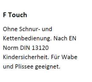 FTouch, F Touch, DIN, EN, 13120, Kindersicherheit