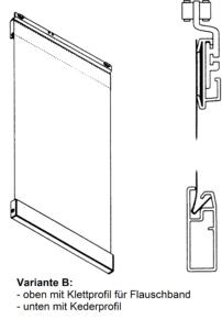Variante, Flauschband, Keder Profil